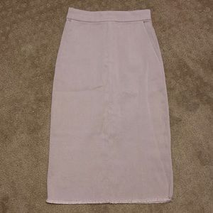 2/$25 Wilfred Pencil Skirt with Raw Hem